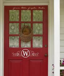 front door monogramBeachCottageCamping Wall Decals  Wallapalooza Wall Decals