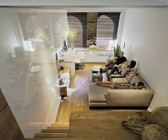 ... Modern Style Of Decorating A Small Studio Apartment : Beautiful Ideas  In Decorating Parquet Flooring Small ...
