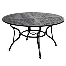 elysian 52 inch round cast aluminum patio dining table by lakeview outdoor designs ultimate patio