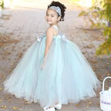 S Store Product Mint Flower Girls Tutu Dress For Wedding Satin Straps Kids Baby Birthday Party Dresses Flower Summer L