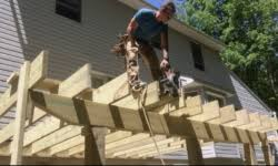 How to build a deck video Steps Video How To Build Deck Part 2 Joists Hardware Posts Decks Decks