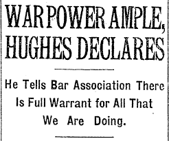 the power to wage war is the power to wage war successfully a  headline from front page of new york times sept 6 1917