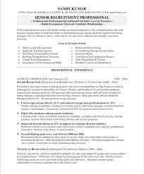 College Recruiter Sample Resume Classy Human Resources Recruiter Resume Template Hr Example Executive R