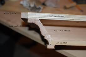 crown molding floating shelf plans