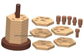 wooden stacker puzzle plan 1