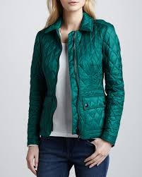 Burberry Brit Fashion Quilted Zip Jacket, Bright Racing Green &  Adamdwight.com