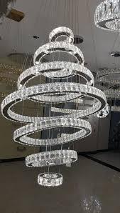 k9 bright crystal ring pendant chandelier
