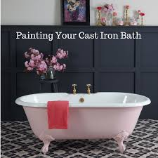 painting a cast iron bath