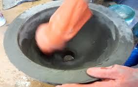 diy make a concrete vessel sink