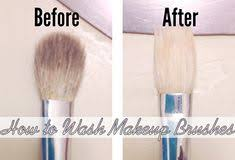 how to wash makeup brushes with olive oil and dish soap pin now read