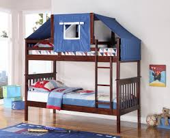 Tent furniture Transformable Ruku Event Logan Bunk Bed Tent Kit In Blue Cappuccino Finish