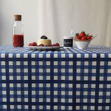 wipe clean tablecloth guinguette blue round or oval
