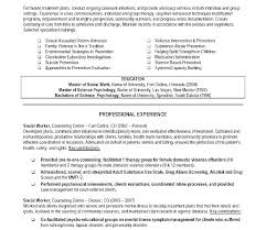 Resume For Social Work Beautiful Msw Sample Resume And Skills For Social Work Resume 15