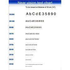 Near Eye Chart Near Vision Chart