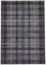 grey blue tartan checked rug 100 polypropylene check design mat home décor