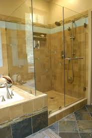glass wall shower stand up shower ideas bathroom bathroom natural granite wall and flooring with glass glass wall shower