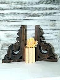 rustic wood corbels small cabinet corbel designs wooden