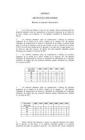 Calendario 2007 Mexico Anexo V Aranceles Aduaneros R