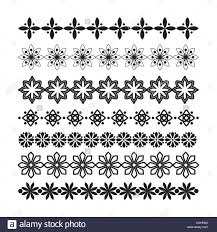 Set Of Vector Borders And Lines Design Geometric Elements