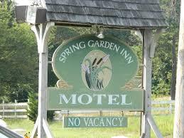 garden inn motel. Spring Garden Inn Motel: The Sign Comes Up Quickly When Traveling On 6A. Motel