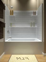 Bathroom The Tub Shower Combo Units Large Image For Bathtub And In One Piece Fiberglass Tub Shower Combo