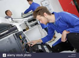 Printer Technician Electronic Printer Technician Stock Photo 176635482 Alamy