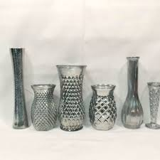 eclectic mercury glass vase collection mercury glass vintage