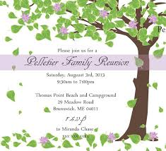 Printable Family Reunion Invitations Amazing Family Reunion Invitation Templates Free Template
