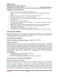 Voice Over Ip Engineer Resume