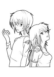 Coloriage Fille Manga Les Beaux Dessins De Dessin Anim