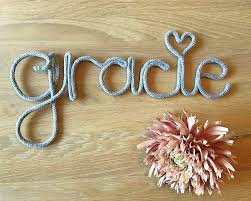 Personalised Knitted Name Decoration