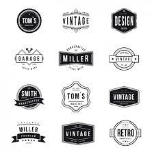 Vintage Logo Vector Vintage Logos Collection Vector Free Download