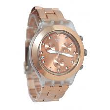 swatch svck4047ag full blooded caramel steel watch swatch watches watch svck4047ag full blooded caramel dial steel men watch