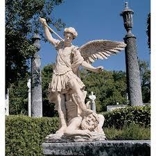 angel garden statue. st michael the archangel (1636) garden angel statue t