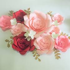 Paper Flower Wedding Decorations Diy Half Made Giant Paper Flowers Hydrangea Flowers Leaves For