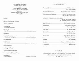Template For Church Program Elegant Best Example Wedding Programs ...