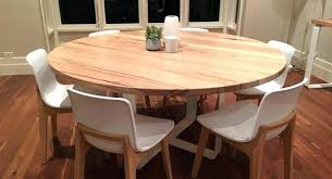 medium size of solid oak round extending dining table and 6 chairs wooden cky 100 130cm