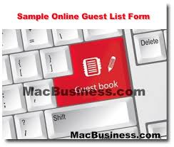 Sample Website Online Guest List Form - Mac Business Consulting Hawaii