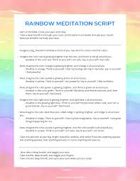 Rainbow Light Meditation Rainbow Meditation For Kids Meditation Scripts