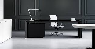 office dest. Modern Black Office Desk Stylish Suited In Every Dest