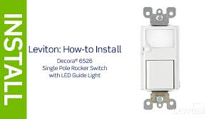 Illuminated House Light Switch Leviton Presents How To Install An Led Guidelight With Single Pole Switch