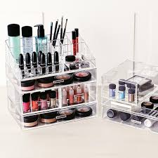 Large Acrylic Makeup Organizer; &; &; &. Roll over to zoom