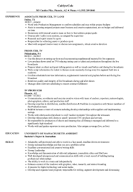 Producer Resume Examples TV Producer Resume Samples Velvet Jobs 1
