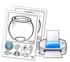 Small Picture Empty Fish Bowl Coloring Page Daycare Pinterest Bowls Fish