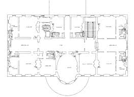 Second Floor   White House MuseumSecond floor plan of the White House after the remodeling   Report of the Architects   hi res version