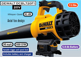 dewalt battery blower. dewalt dcbl720p1 20v max 5.0 ah lithium ion xr brushless blower dewalt battery 1
