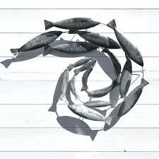 metal fish wall art sculptures uk
