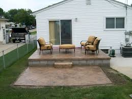 how to build a raised concrete porch patio designs home design ideas