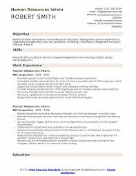 Resume Objective For Internship Human Resources Intern Resume Samples Qwikresume