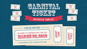 Concert Ticket Invitations Template Stunning 48 Carnival Ticket Invitation Templates Free PSD Illustrator